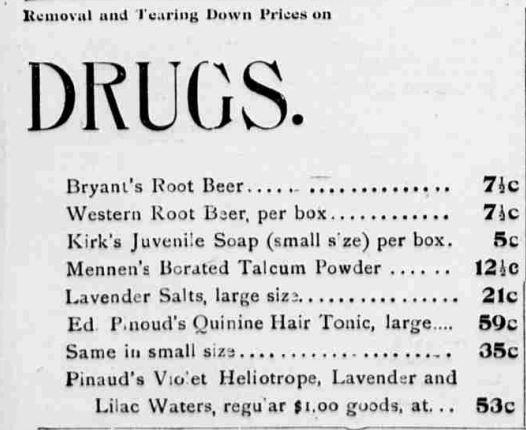 Bryant's Root Beer Drugs 1897 Nebraska Omaha Daily Bee