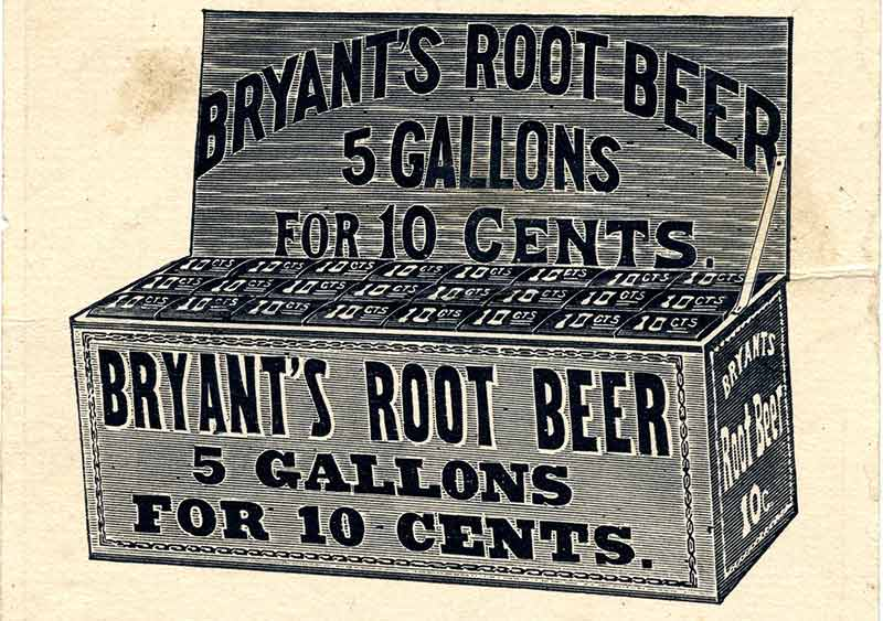Bryant's Root Beer Box Advertisement