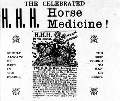 1895 HHH Horse Medicine Ad