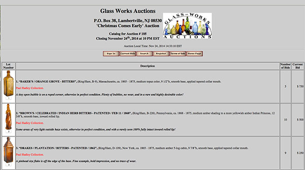 Glass Works Auction
